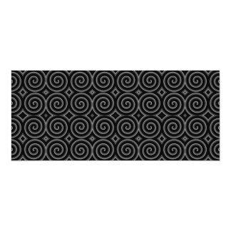 Stylish, black and white spiral design. invitation
