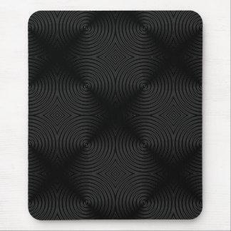 Stylish, black circles design. Custom Mouse Pad