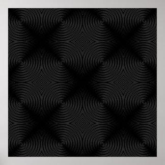 Stylish, black circles design. Custom Poster