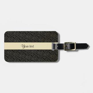 Stylish Black & Gold Foil Mini Stars Luggage Tag
