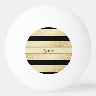 Stylish Black & Gold Foil Stripes