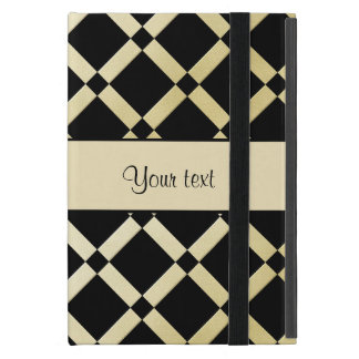 Stylish Black & Gold Squares iPad Mini Case