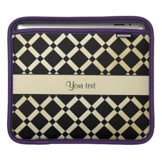 Stylish Black & Gold Squares iPad Sleeve
