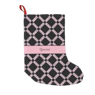 Stylish Black & Lilac Glitter Squares