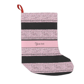 Stylish Black & Lilac Glitter Stripes