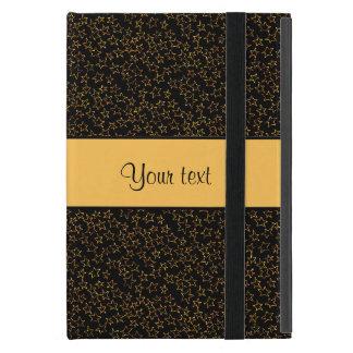 Stylish Black & Orange Glitter Mini Stars Cover For iPad Mini