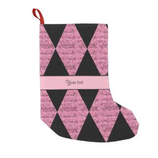 Stylish Black & Pink Glitter Diamonds