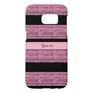 Stylish Black & Pink Glitter Stripes