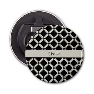 Stylish Black & Silver Glitter Squares