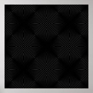 Stylish, black spirals design. poster