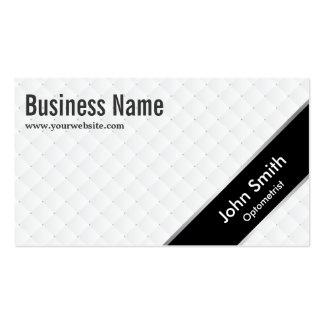 Stylish Black Stripe Optometrist Business Card