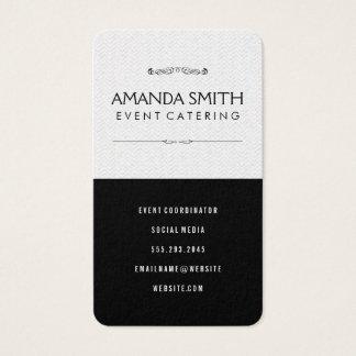 Stylish Black Subtle Wavy Pattern Business Card