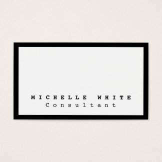 Stylish Black White Courier Professional Modern Business Card