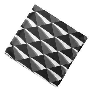 Stylish Black White Gray Pattern Bandana