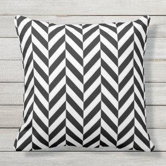 STYLISH BLACK & WHITE HERRING BONE  throw cushion