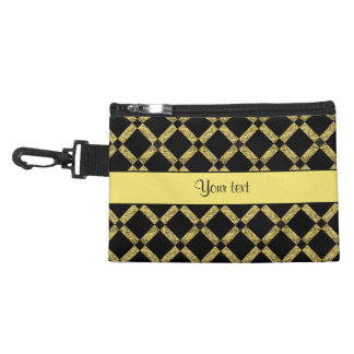 Stylish Black & Yellow Squares Accessory Bag