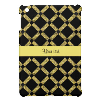 Stylish Black & Yellow Squares Case For The iPad Mini