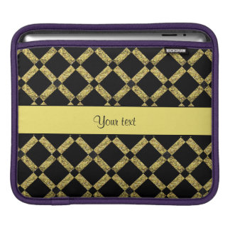 Stylish Black & Yellow Squares iPad Sleeve