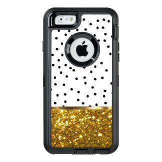 Stylish Bling Gold Glitter OtterBox iPhone 6/6s Case