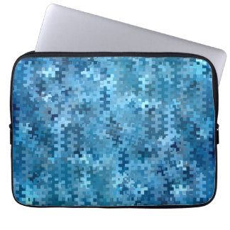 Stylish Blue and Black Pattern Laptop Sleeve