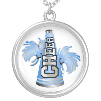 Stylish Blue and White Cheerleader Necklace