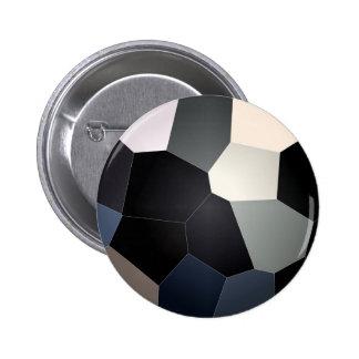 Stylish Blue Black Stained Glass Design 6 Cm Round Badge