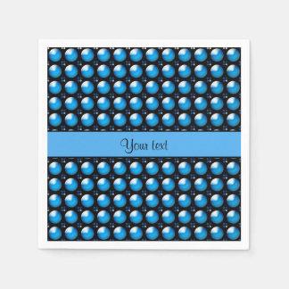 Stylish Blue Buttons Disposable Serviettes