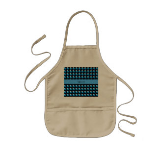 Stylish Blue Buttons Kids Apron