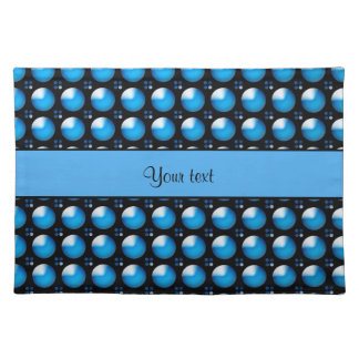 Stylish Blue Buttons Placemat