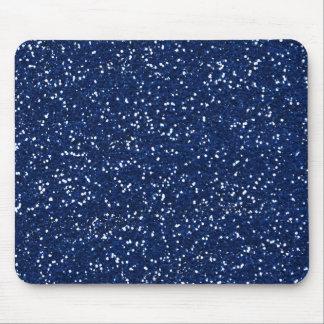Stylish Blue Glitter Mouse Pad