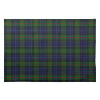 Stylish Blue, Green, and Red Clan Gun Tartan Plaid Placemat