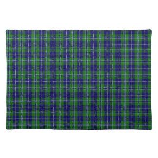 Stylish Blue & Green Douglas Tartan Plaid Placemat