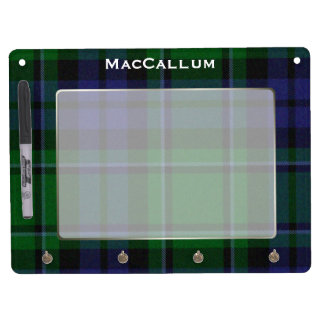 Stylish Blue & Green MacCallum Tartan Plaid Custom Dry-Erase Board