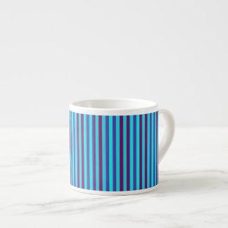 Stylish Blue Horizontal Stripes Espresso Mug