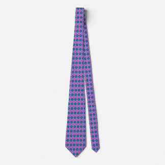 Stylish Blue Polka Dot w. Lavender Background Tie