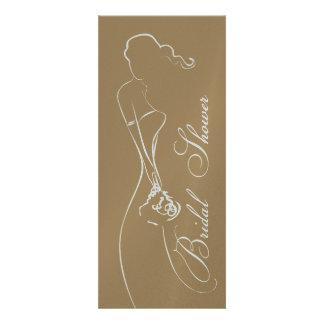 Stylish Bride Mocha Bridal Shower Invitation
