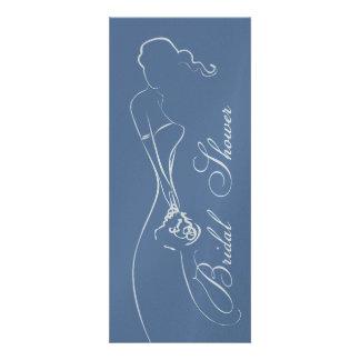 Stylish Bride Periwinkle Bridal Shower Invitation