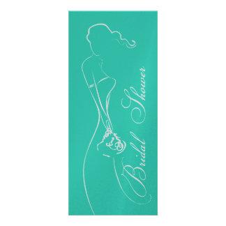 Stylish Bride Turquoise Bridal Shower Invitation