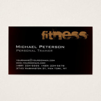 Stylish Browny Red Black Fitness Business Card