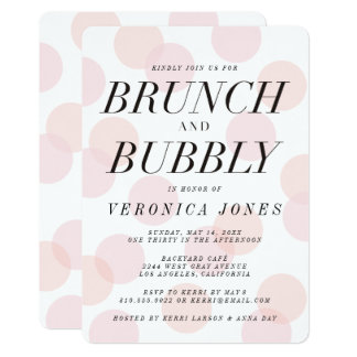 Stylish Brunch and Bubbly Bridal Shower Invitation