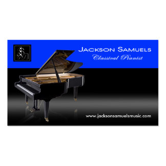 "Stylish Business Card - all purpose ""Pianist I"""