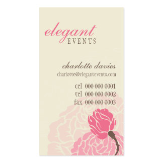 STYLISH BUSINESS CARD :: elegant rose pink cream