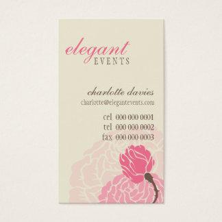 STYLISH BUSINESS CARD :: elegant rose pink cream