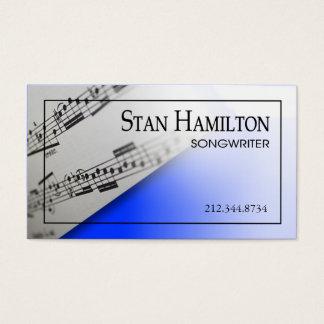 "Stylish Business Card - Songwriter ""Sheet Music"""