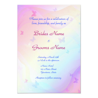Stylish Butterflies Wedding Invitation