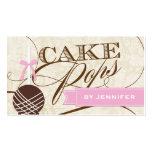 Stylish Cake Pop Business Card
