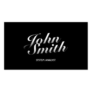 Stylish Calligraphic System Analyst Business Card