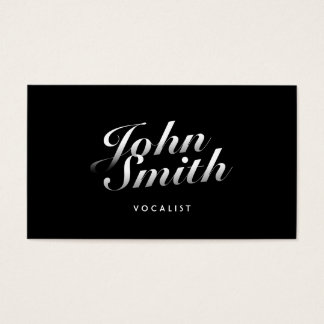Stylish Calligraphic Vocalist Business Card