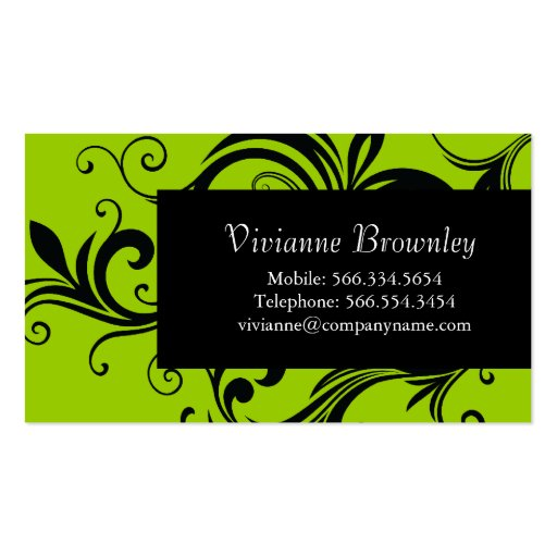 Stylish Calling Cards Business Card Template