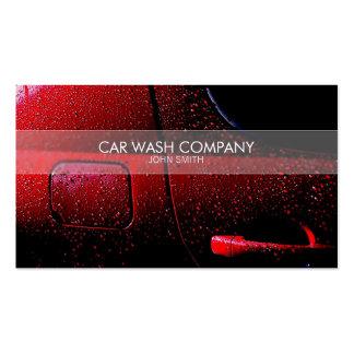 Stylish car wash business card